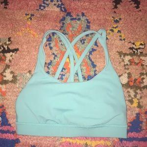 Turquoise lululemon sports bra 4 Energy
